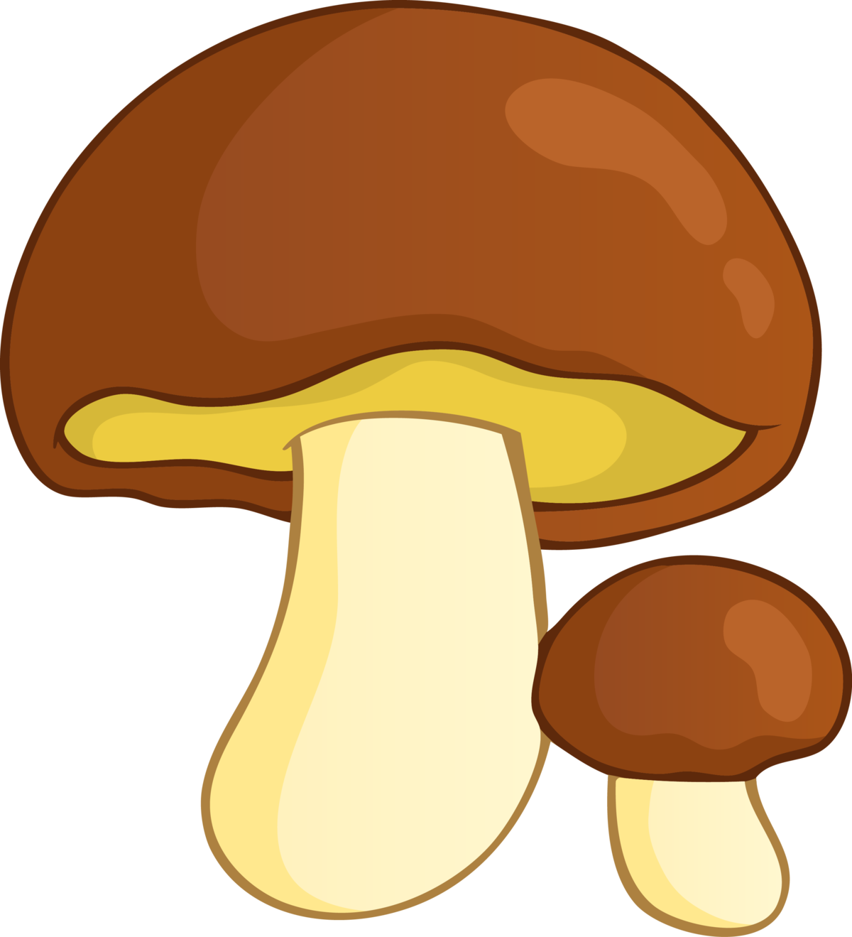 Картинка гриба нарисованная