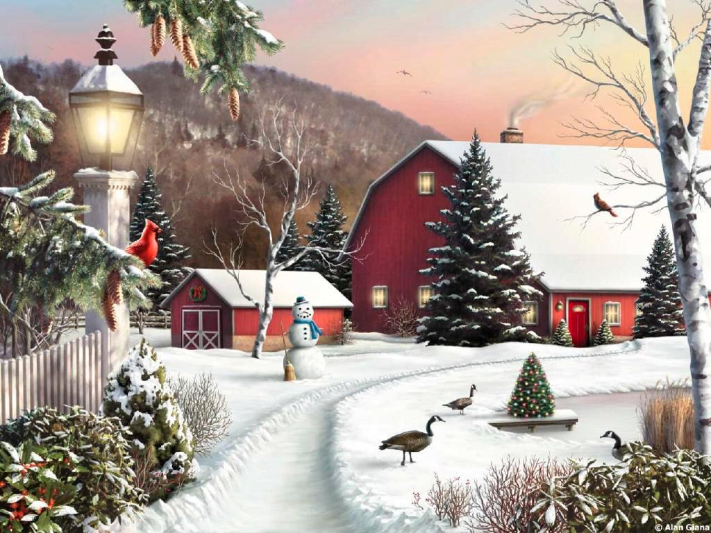 Скрапбукинг, анимационные открытки зимние