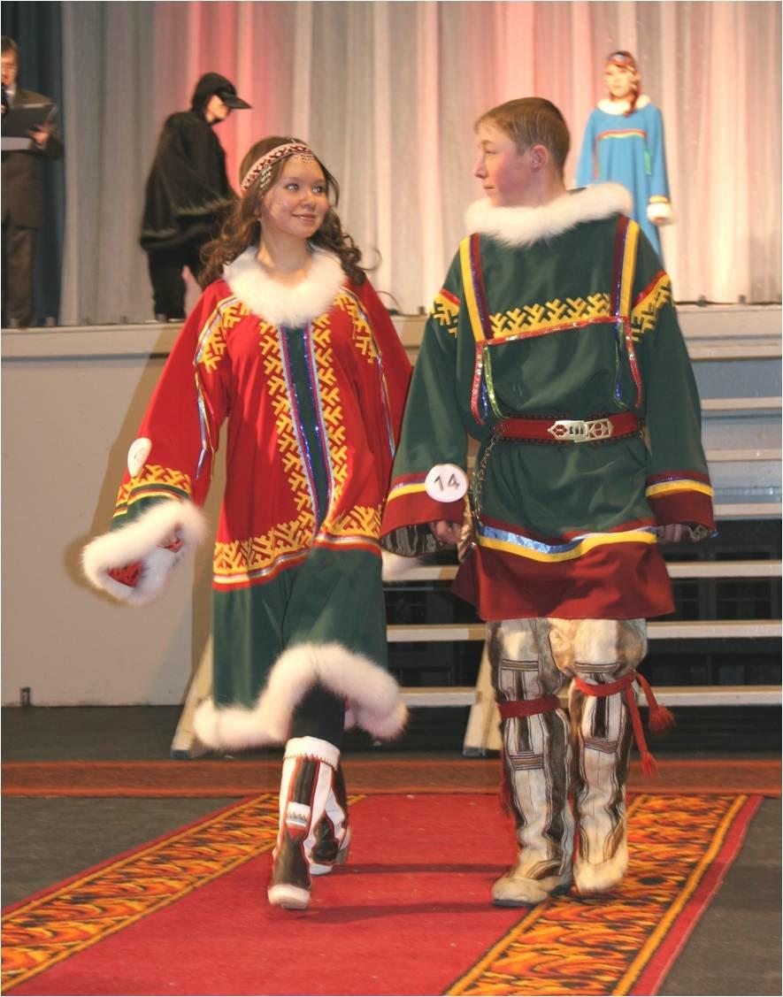 ненецкий национальный костюм фото мужской и женский ёжиком