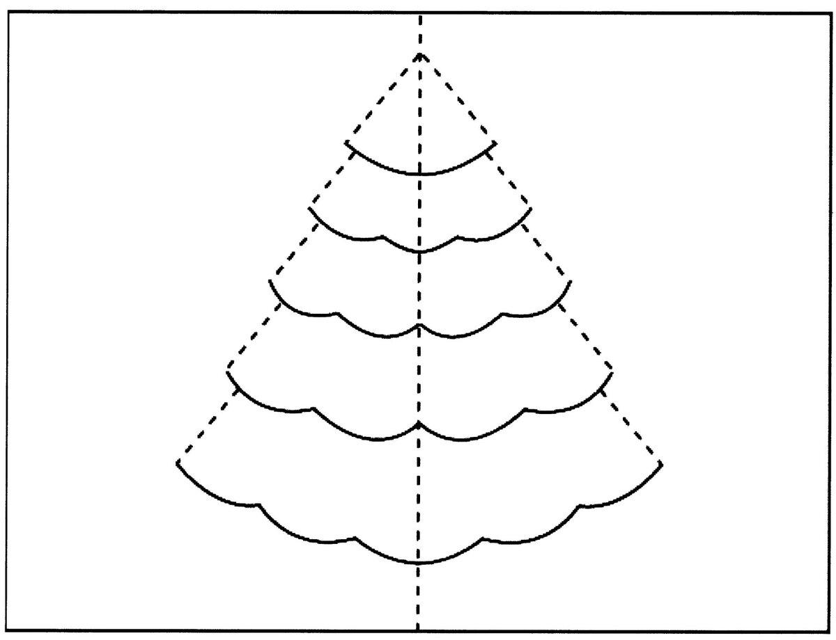 Форма елочки для открытки