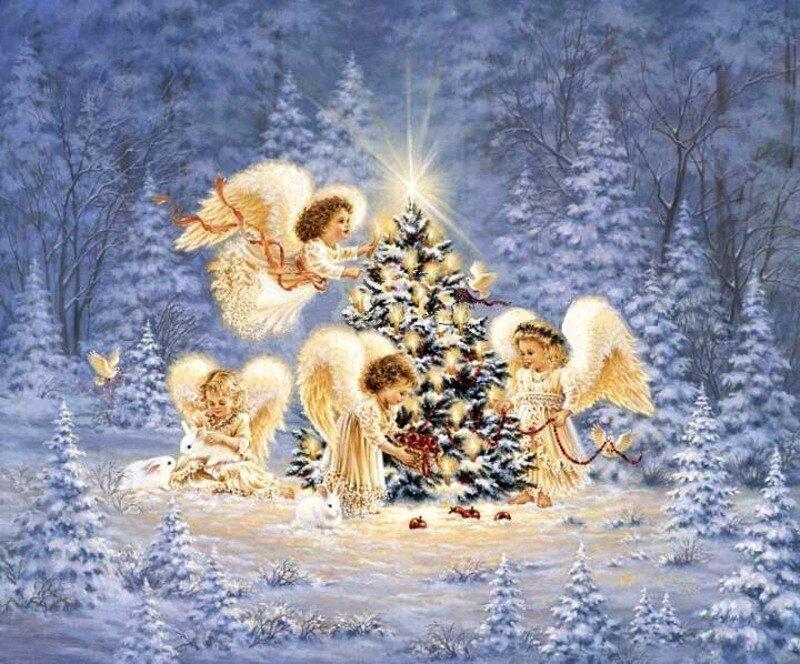 Открытка, красивая открытка с праздником рождества