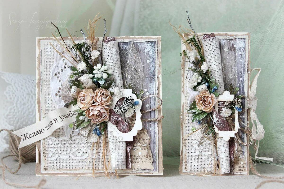 Винтажные открытки на свадьбу своими руками