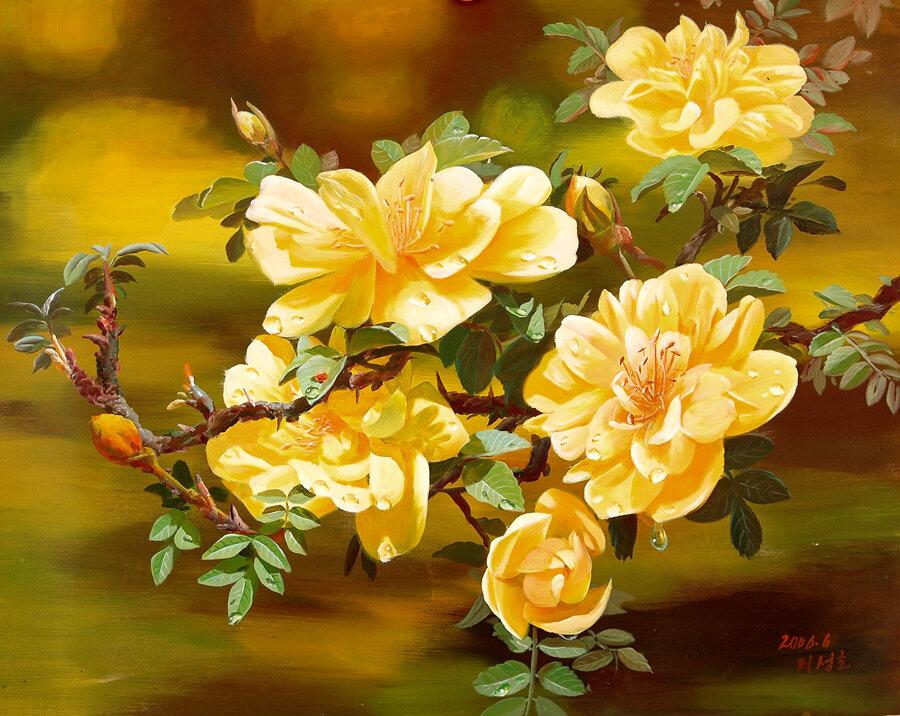 пятницу желтые цветы в картинах художников они