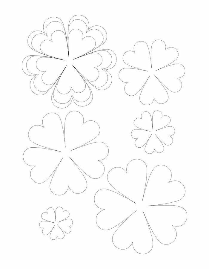 Шаблоны для цветов для открытки, надписями закрытой школы