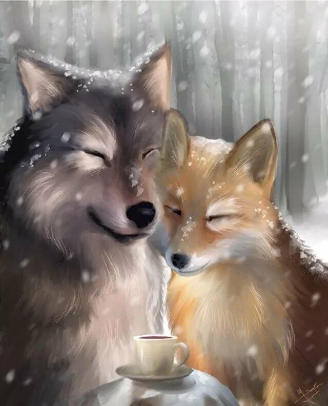 море, тихих картинки я люблю волка от лисы иллюстрациями морские