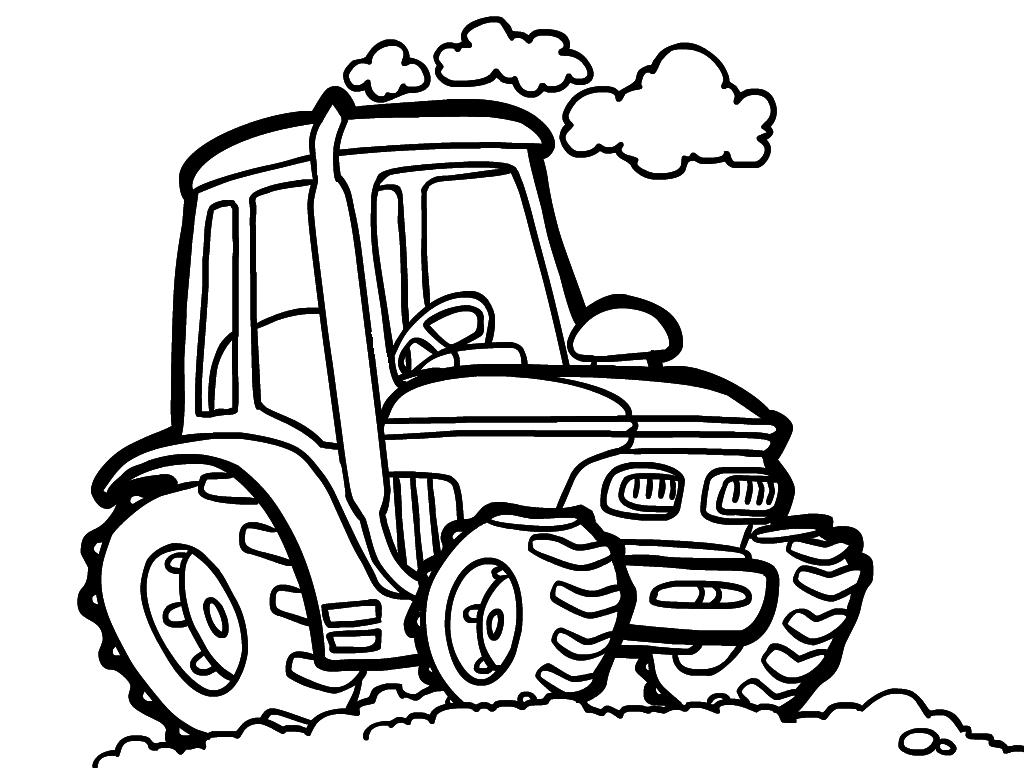 Большой, трактор в картинках для детей раскраска