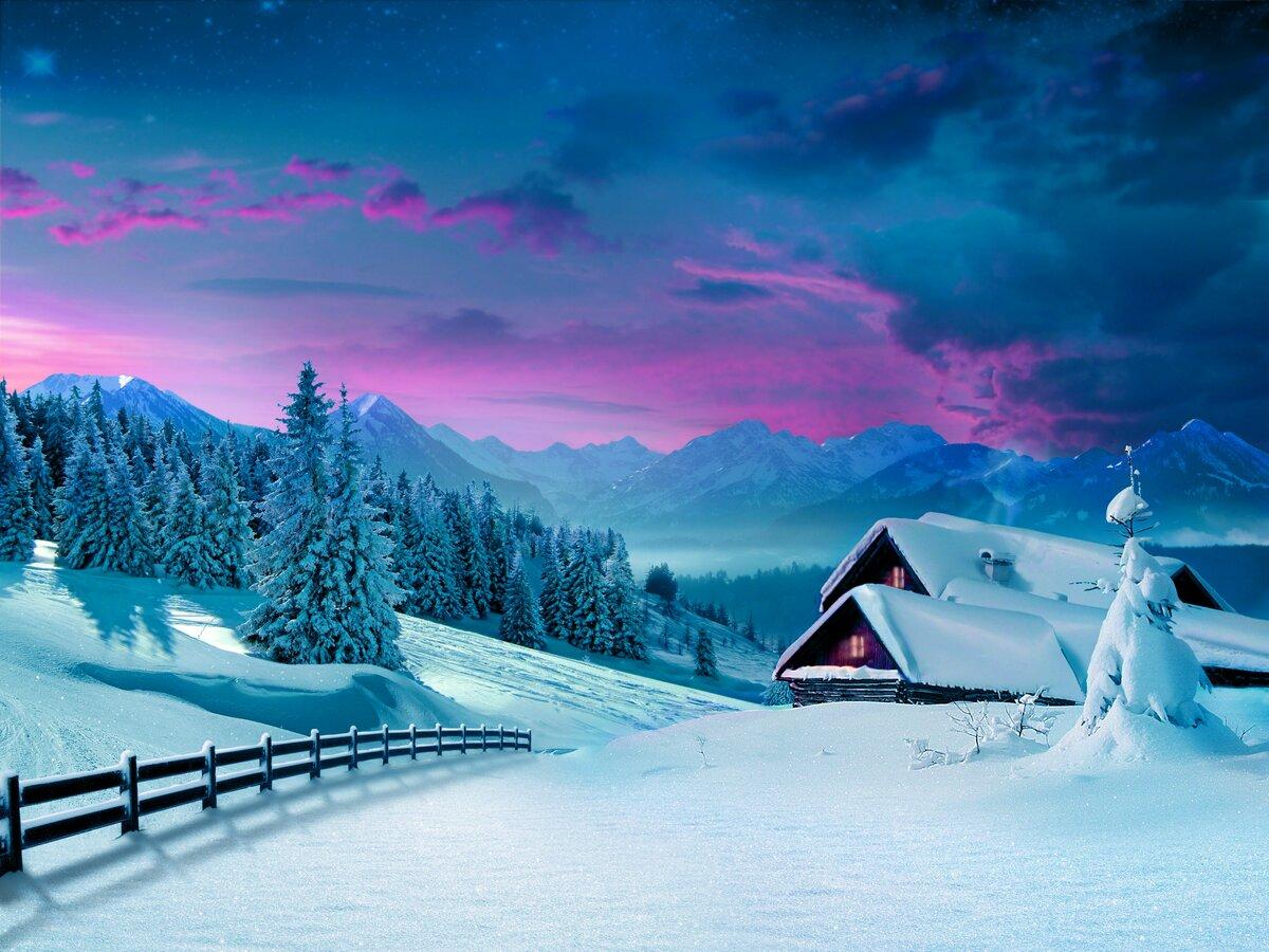 Картинки красивой природы зимой