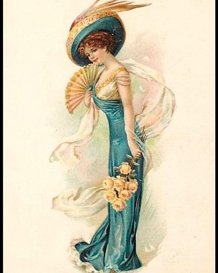 Женские винтажные открытки