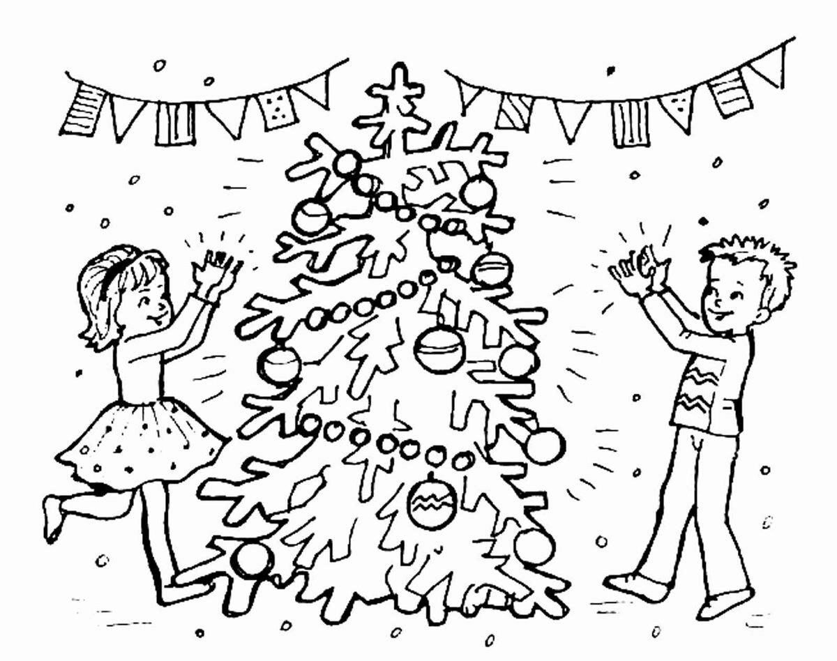 Картинки для срисовки праздник новый год