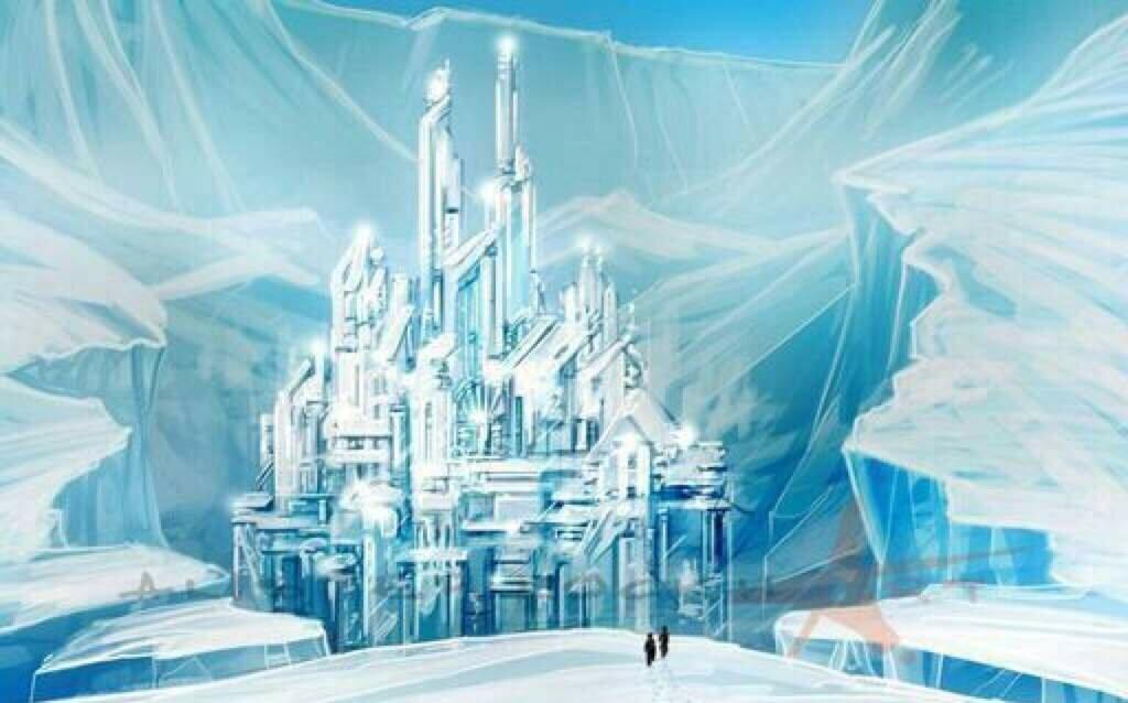 Замок снежной королевы картинка для детей