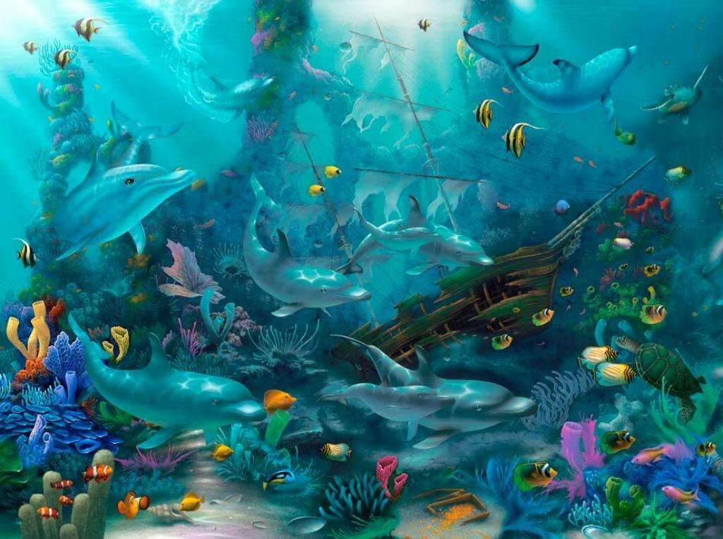 Выдуманный подводный мир картинки