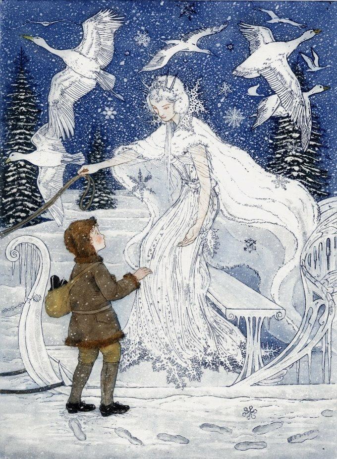 снежная королева в сюжетных картинках радостную весть