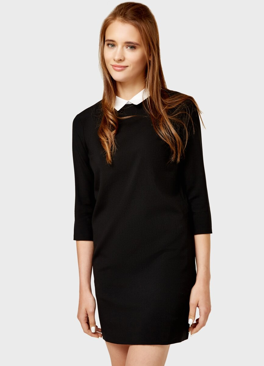 полезный сытный картинка черное платье с белым воротником удивление, как художники