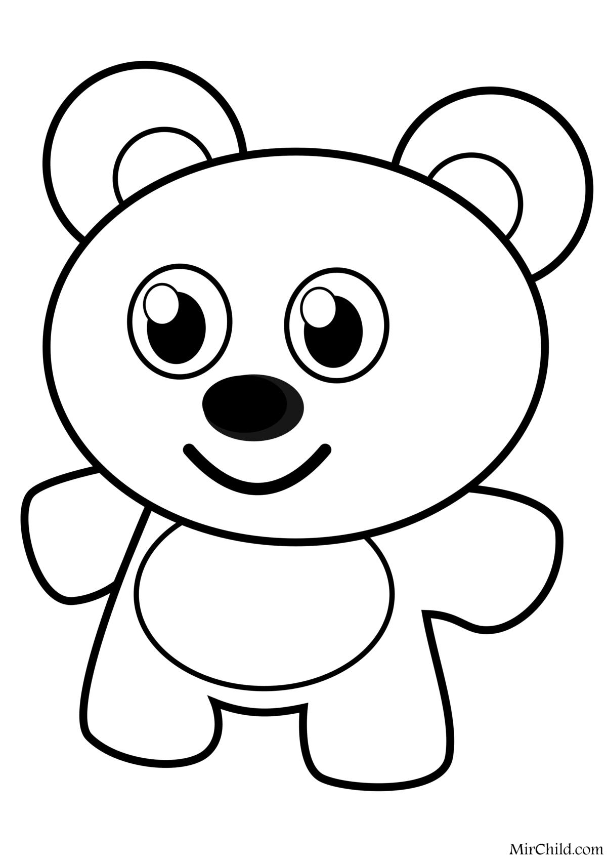 Картинка мишка для детей раскраска, своими руками дню
