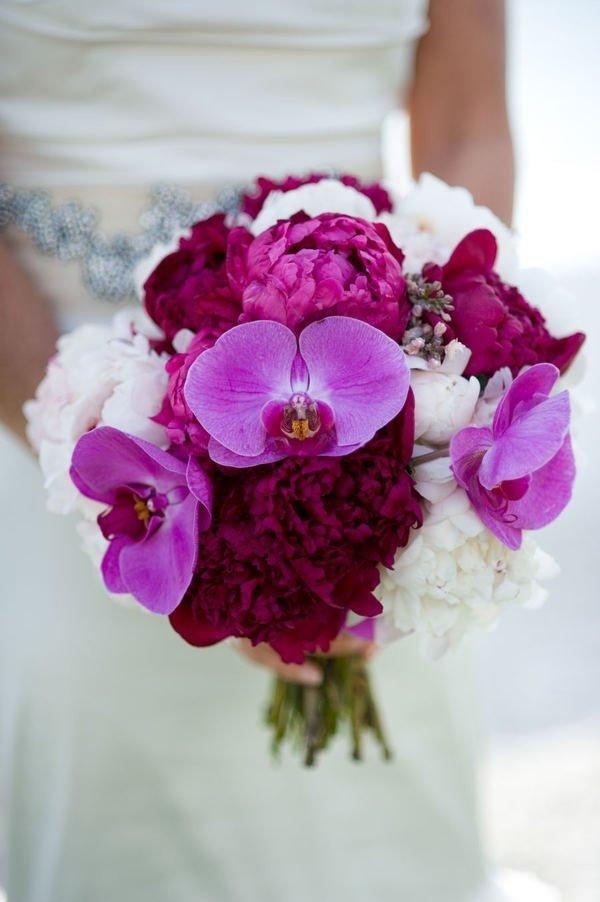 Цвета цветы, красные орхидея свадебный букет