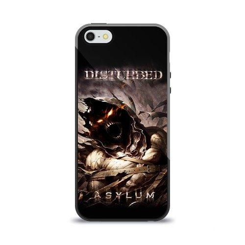 Чехол для Apple iPhone 5/5S силиконовый глянцевый Disturbed