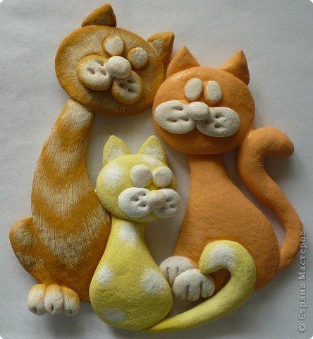 Кошки своими руками из теста 155