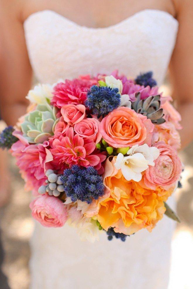 Лучший летний свадебный букет, цветов водников