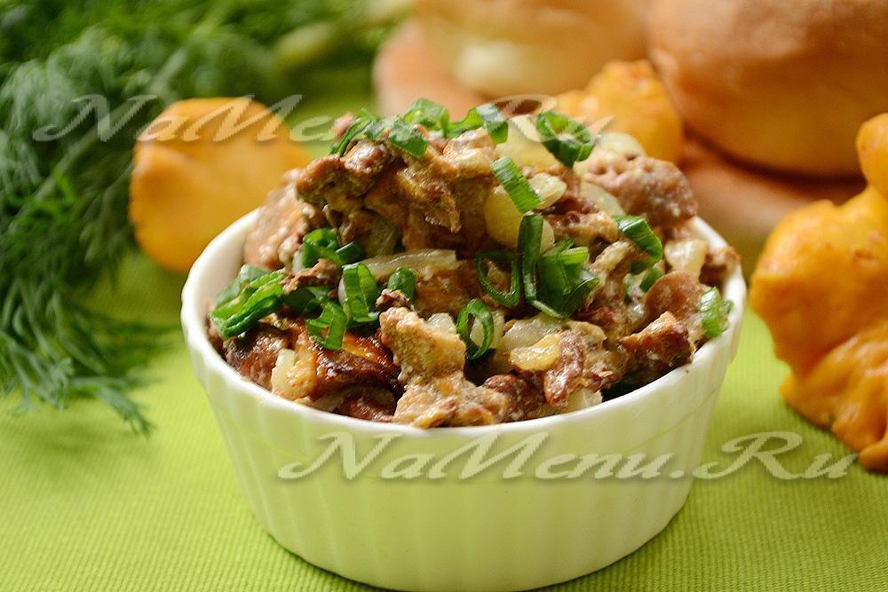 Лисички со сливками жареные рецепт с фото, пошаговое