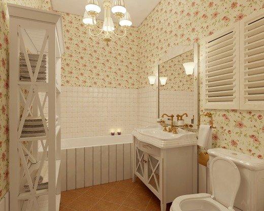 Ванная в стиле прованс выглядит очень романтично и гармонично. При правильном подборе материалов и аксессуаров можно создать уютную атмосферу, располагающую к отдыху.