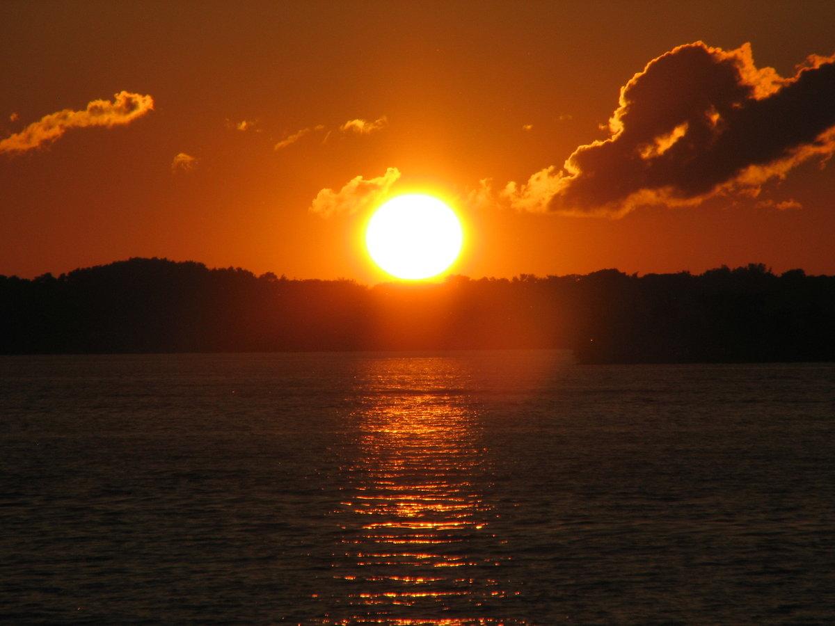 Картинки закат солнца, работу