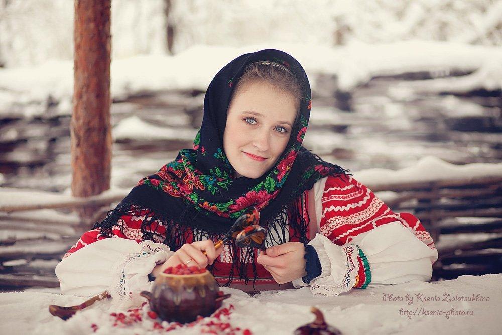 Русская красавица зимой этим