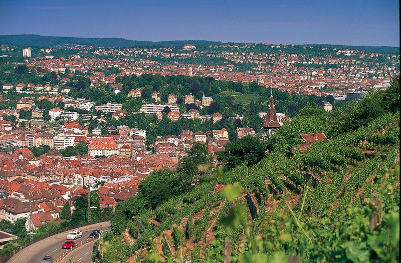 город Штутгарт, вид с виноградников
