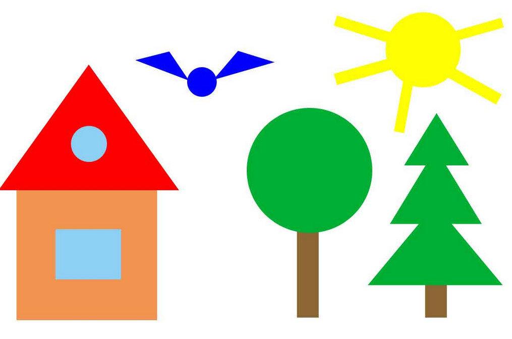 Геометрические фигуры из бумаги детям 7