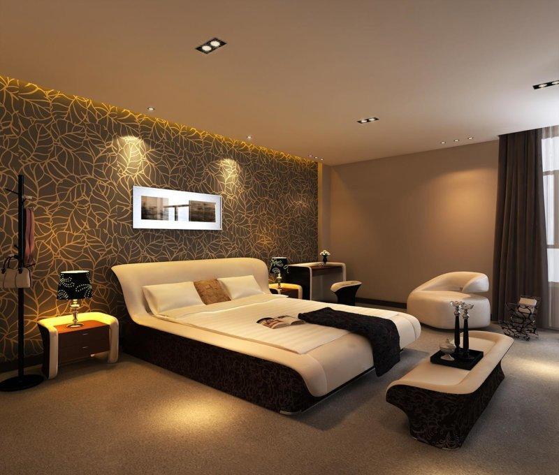 Стильный ремонт спальни недорого фото