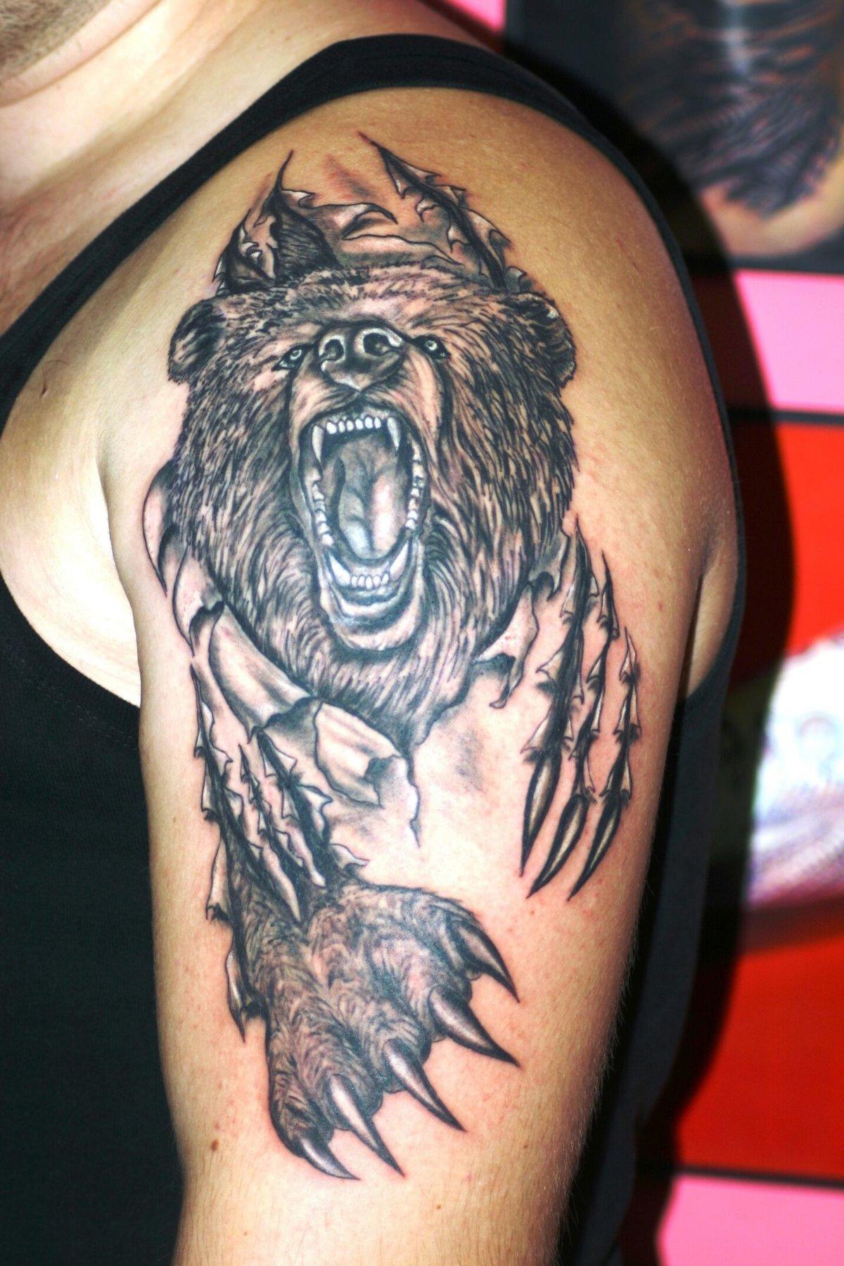 буду фото татуировок с изображением медведя обитателя