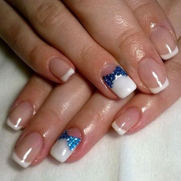 Картинки шеллака на ногтях френч