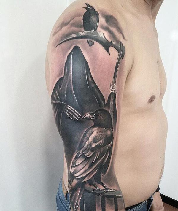 grim reaper tattoo 35