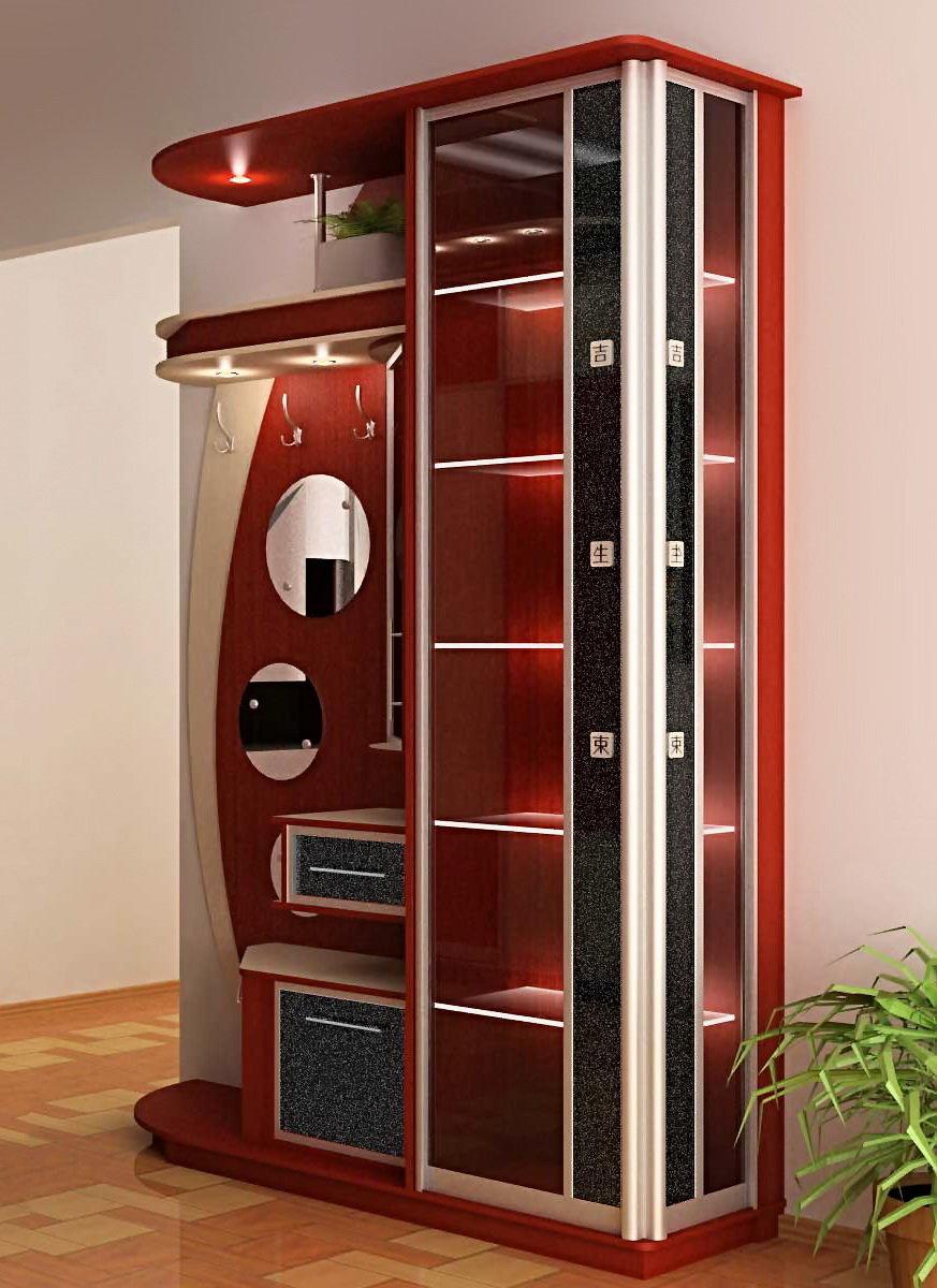 """Шкаф для прихожей комнаты с китайскими иероглифами."""" - карто."""