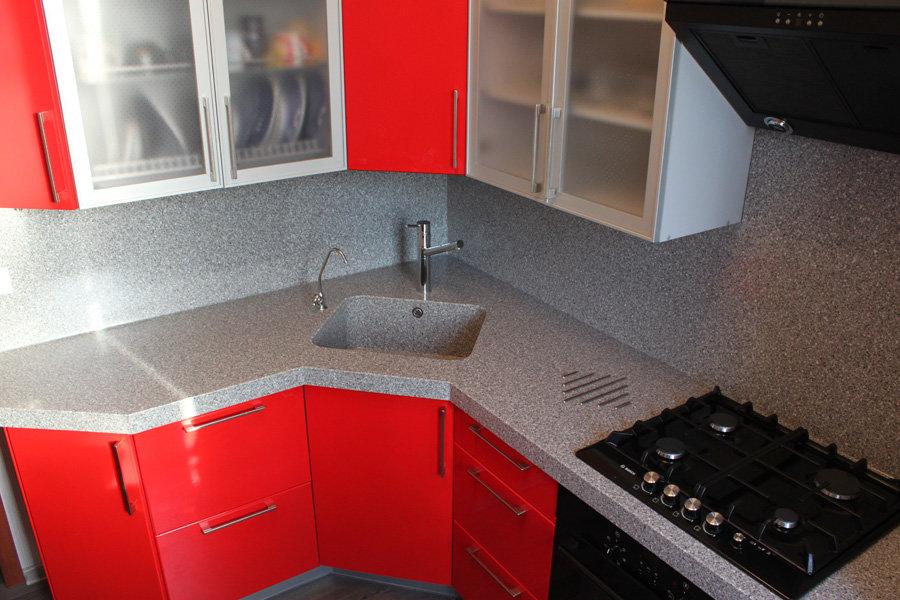угловые кухни с раковиной в углу фото задняя