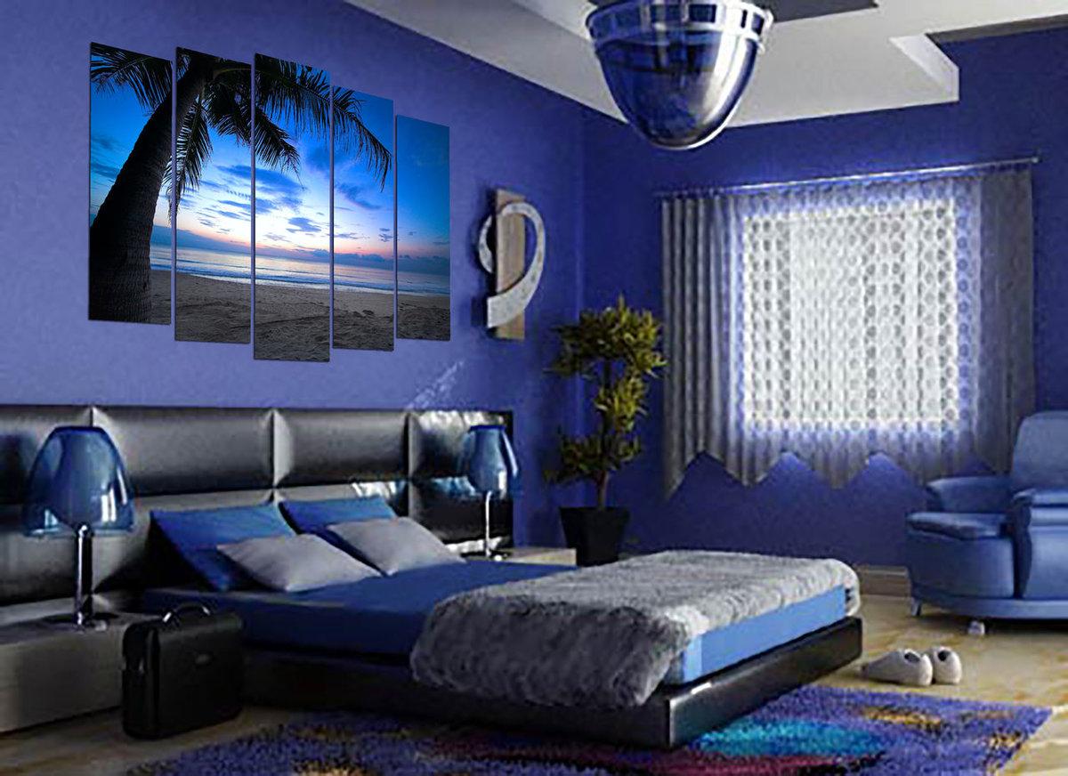 картинки спален в синих тонах них есть реальный
