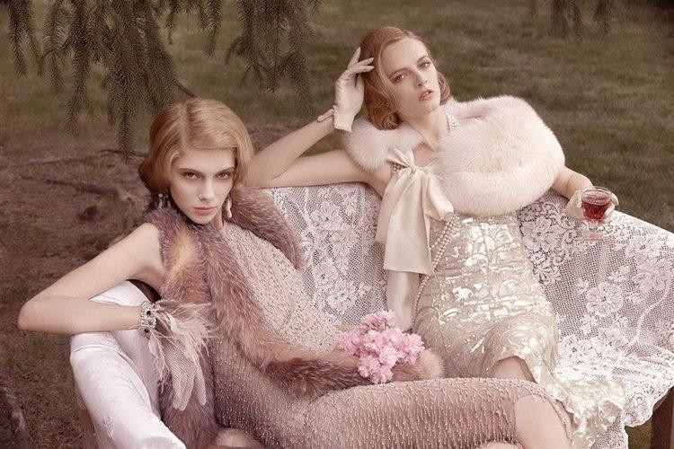 Изысканность в нарядах и макияже свойественная 20-м годам