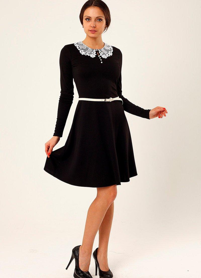 платье круглый воротник