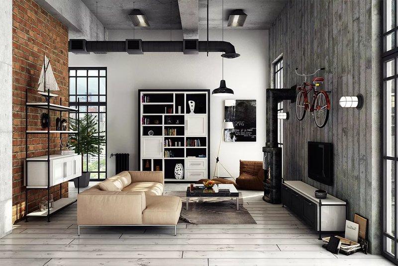 Из этой статьи вы узнаете какая отделка, мебель и предметы декора подходят для гостиной в стиле лофте, и как обставить маленькую или просторную гостиную.