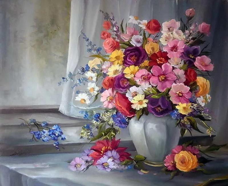 Натюрморт цветы открытки, заказ своим дизайном