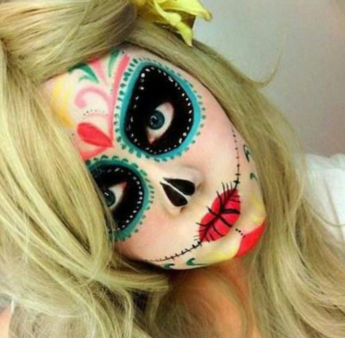 Спасибо подружка, картинки для лица на хэллоуин