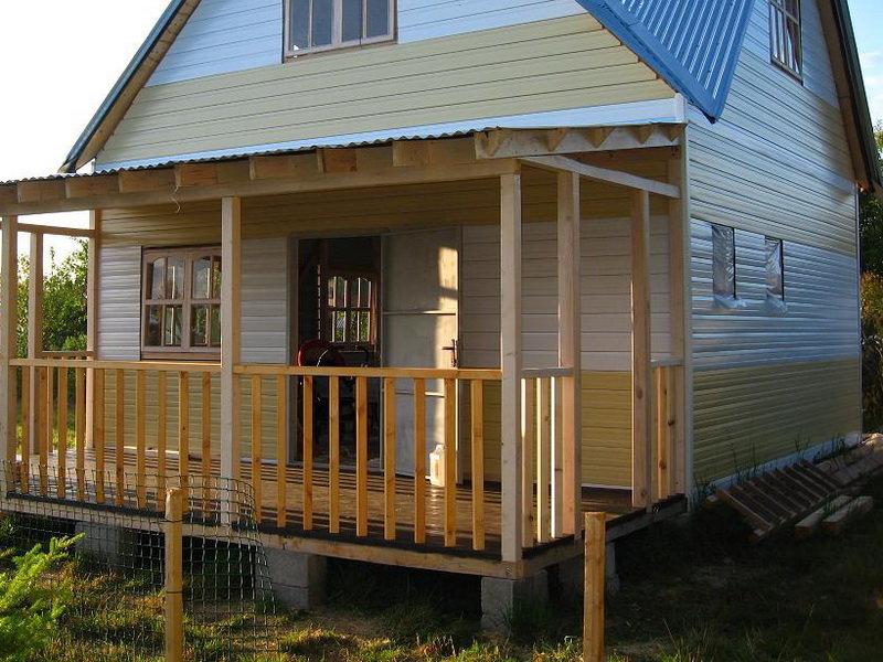 Фото проекта веранды к деревянному дому
