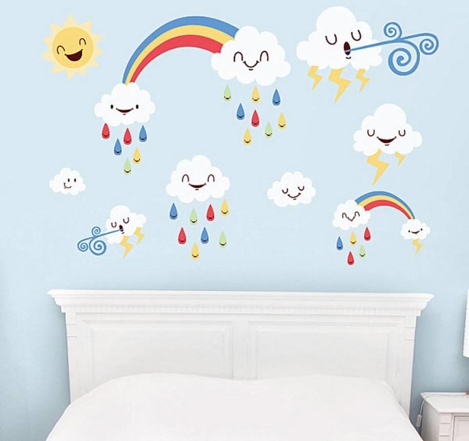 Легкие рисунки на стену для детской комнаты