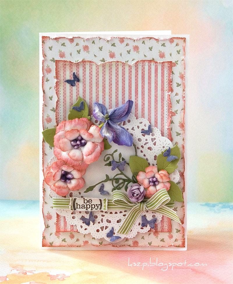 Как сделать красивую открытку скрапбукинг ко дню рождения