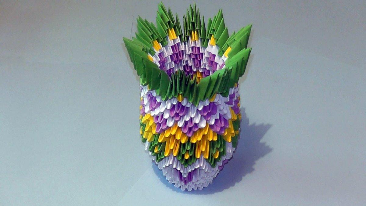 своими руками оригами ваза модульное