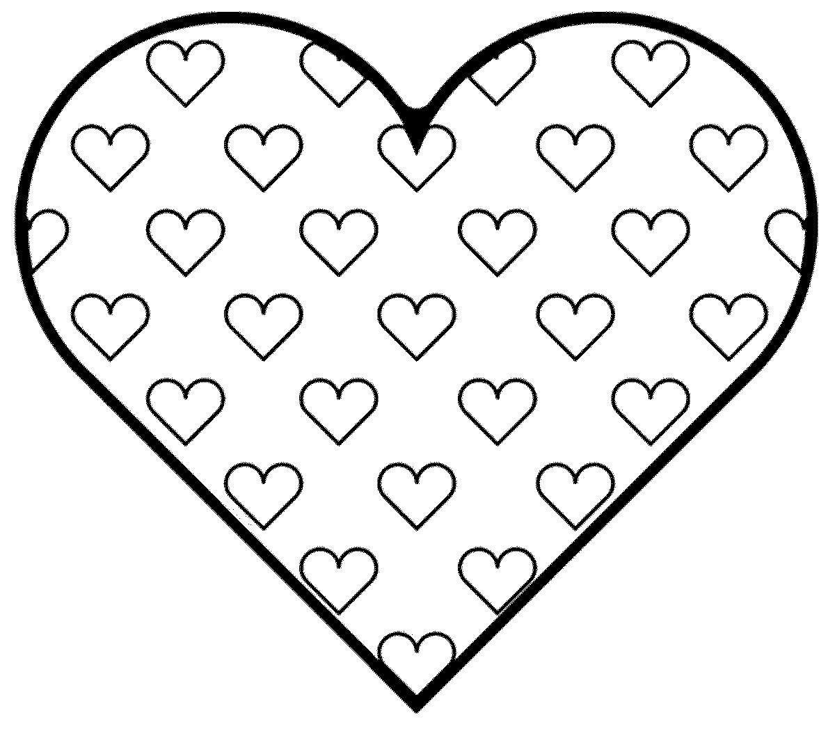Раскраска с сердечками распечатать