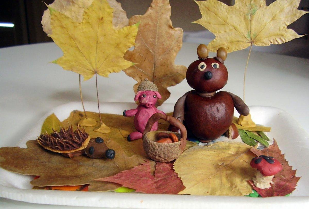 Для приставов, картинки поделки в садик осень