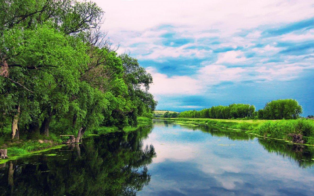 Картинки на рабочий стол природа лето река