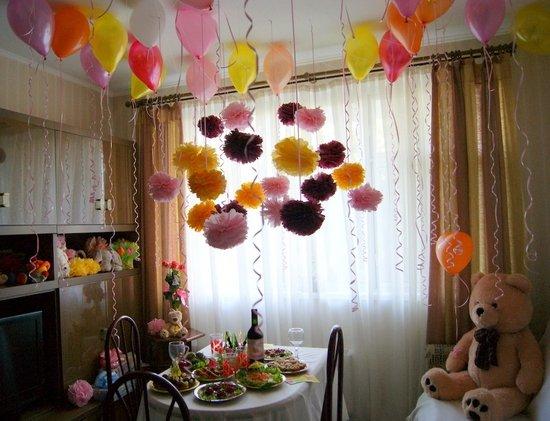 Как украсить комнату на день рождения ребёнка 1 год своими руками фото