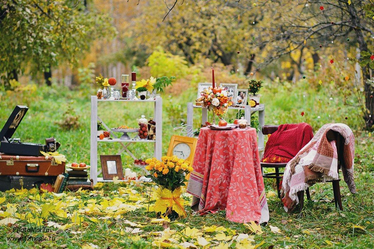 фотостудия фото на осеннем пейзаже торжественной