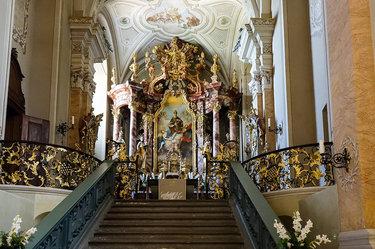 церковь азамкирхе алтарь